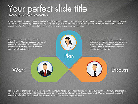 Work Plan Discussion Diagram, Slide 9, 02977, Business Models — PoweredTemplate.com