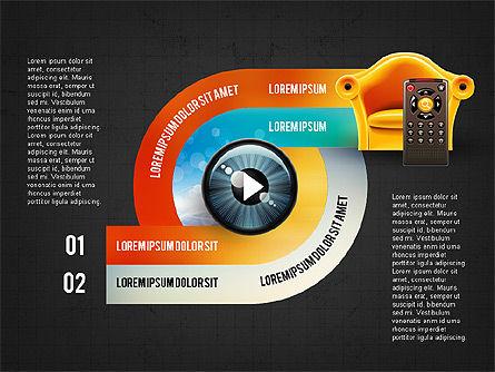 TV Invographics, Slide 10, 02978, Infographics — PoweredTemplate.com