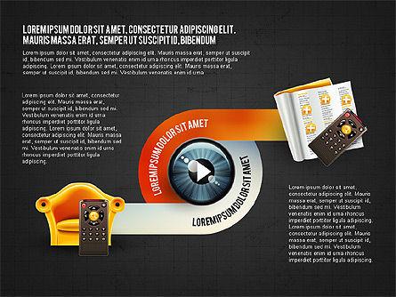 TV Invographics, Slide 12, 02978, Infographics — PoweredTemplate.com