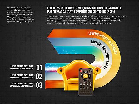 TV Invographics, Slide 13, 02978, Infographics — PoweredTemplate.com