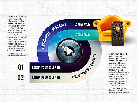 TV Invographics, Slide 2, 02978, Infographics — PoweredTemplate.com