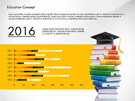 Education Infographics Template, Slide 2, 02979, Education Charts and Diagrams — PoweredTemplate.com