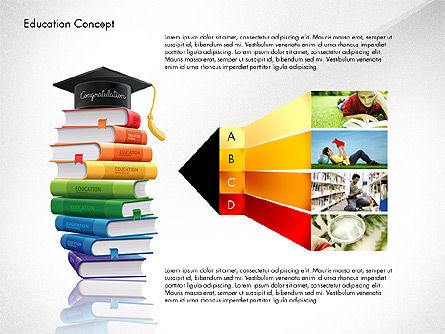 Education Infographics Template, Slide 3, 02979, Education Charts and Diagrams — PoweredTemplate.com