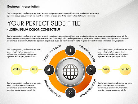 Process Diagrams: Business Process Presentation Template #02980