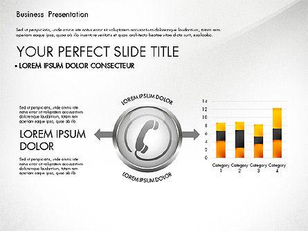 Business Process Presentation Template, Slide 3, 02980, Process Diagrams — PoweredTemplate.com