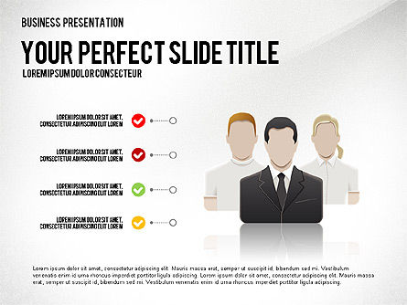 Company Management Presentation Template, 02982, Presentation Templates — PoweredTemplate.com