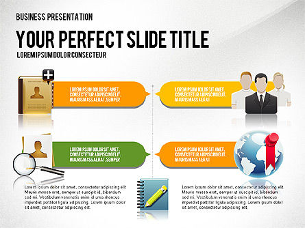 Company Management Presentation Template, Slide 3, 02982, Presentation Templates — PoweredTemplate.com