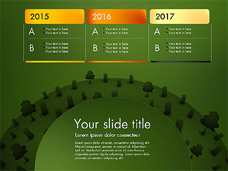 Deforestation Presentation Template, Slide 11, 02984, Presentation Templates — PoweredTemplate.com
