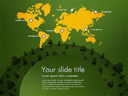Deforestation Presentation Template, Slide 14, 02984, Presentation Templates — PoweredTemplate.com