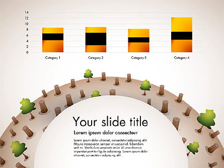 Deforestation Presentation Template, Slide 5, 02984, Presentation Templates — PoweredTemplate.com