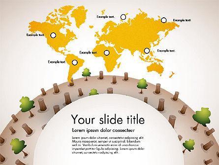 Deforestation Presentation Template, Slide 6, 02984, Presentation Templates — PoweredTemplate.com