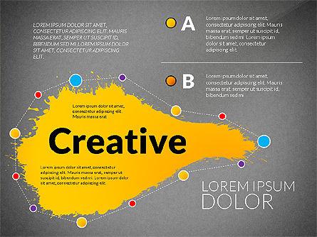 Creative Ideas Presentation Template, Slide 10, 02987, Presentation Templates — PoweredTemplate.com