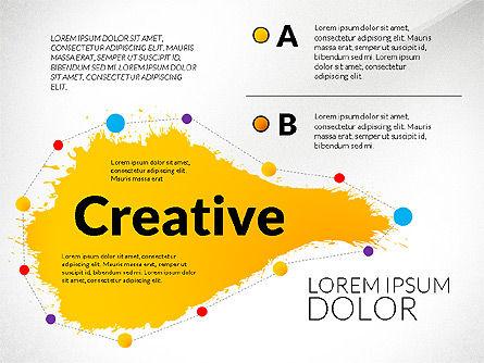 Creative Ideas Presentation Template, Slide 2, 02987, Presentation Templates — PoweredTemplate.com