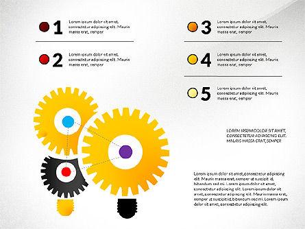 Creative Ideas Presentation Template, Slide 8, 02987, Presentation Templates — PoweredTemplate.com