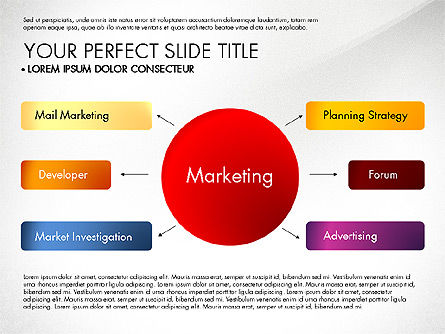 Marketing Concept Diagram, Slide 5, 02988, Business Models — PoweredTemplate.com