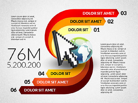 Infographics: Clock and Globe Infographics Concept #02989