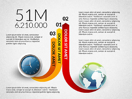 Clock and Globe Infographics Concept, Slide 7, 02989, Infographics — PoweredTemplate.com