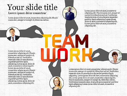 Teamwork Presentation Template, 02991, Presentation Templates — PoweredTemplate.com