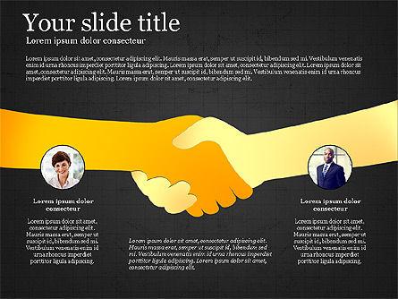 Teamwork Presentation Template, Slide 16, 02991, Presentation Templates — PoweredTemplate.com