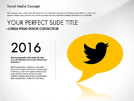 Social Media Concept Presentation Template Slide 2