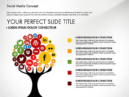Social Media Concept Presentation Template Slide 3