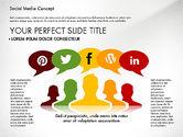 Presentation Templates: Plantilla de presentación de concepto de medios sociales #02994