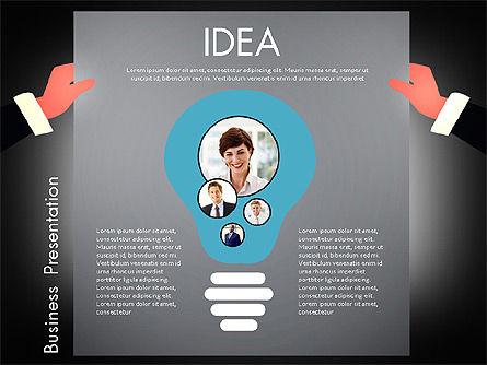 Promotion Concept Presentation Template, Slide 13, 02996, Presentation Templates — PoweredTemplate.com
