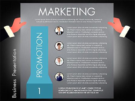 Promotion Concept Presentation Template, Slide 15, 02996, Presentation Templates — PoweredTemplate.com