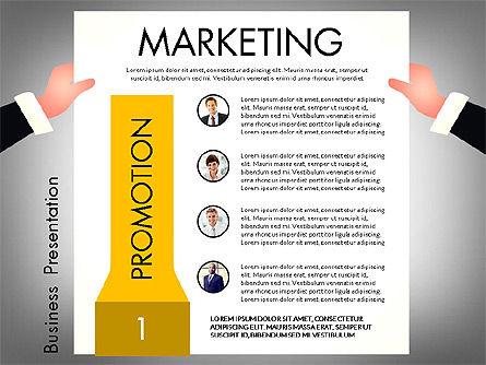 Promotion Concept Presentation Template, Slide 7, 02996, Presentation Templates — PoweredTemplate.com