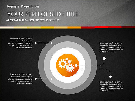 Presentation with Silhouettes Icons and Puzzles , Slide 11, 02998, Presentation Templates — PoweredTemplate.com
