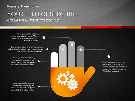 Presentation with Silhouettes Icons and Puzzles , Slide 14, 02998, Presentation Templates — PoweredTemplate.com