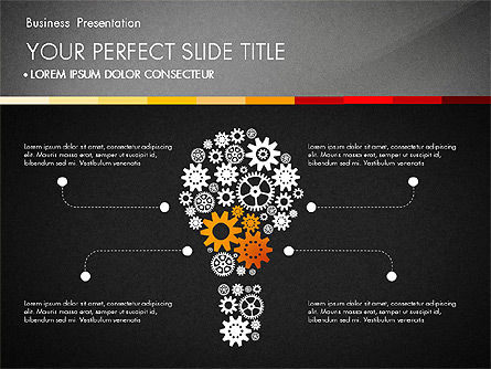 Presentation with Silhouettes Icons and Puzzles , Slide 9, 02998, Presentation Templates — PoweredTemplate.com