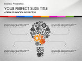 Presentation Templates: Presentation with Silhouettes Icons and Puzzles  #02998