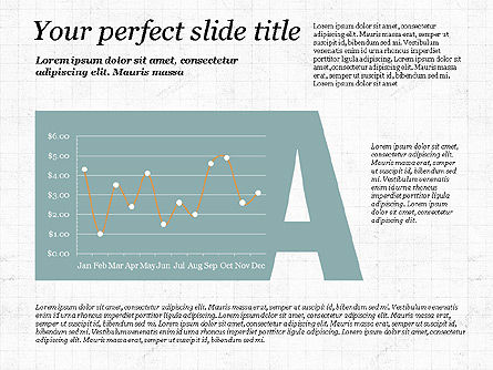 Data Driven Diagrams and Charts: Business Alphabet Presentation Template #02999