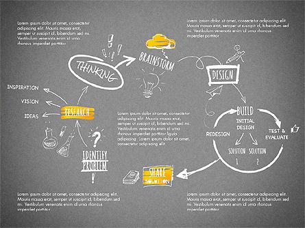 Creative Process Diagram, Slide 10, 03002, Process Diagrams — PoweredTemplate.com