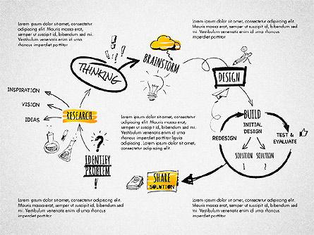 Creative Process Diagram, Slide 2, 03002, Process Diagrams — PoweredTemplate.com