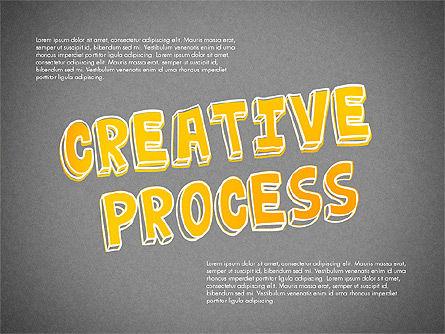 Creative Process Diagram, Slide 9, 03002, Process Diagrams — PoweredTemplate.com