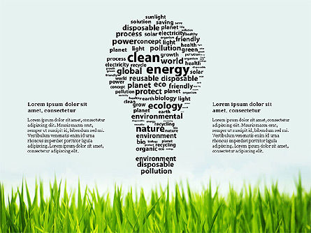 Clean Energy Presentation Template, 03003, Presentation Templates — PoweredTemplate.com