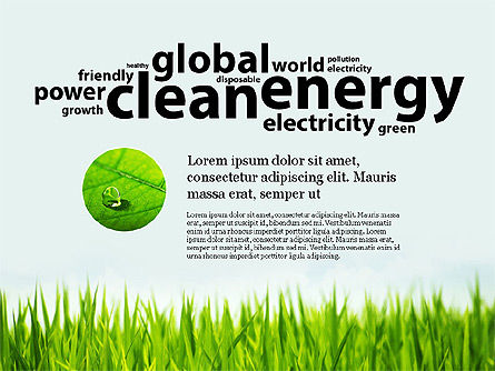 Clean Energy Presentation Template, Slide 2, 03003, Presentation Templates — PoweredTemplate.com