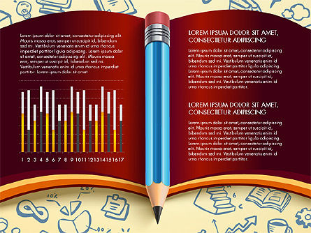 Data Driven Report with Book and Pencil, Slide 12, 03006, Data Driven Diagrams and Charts — PoweredTemplate.com