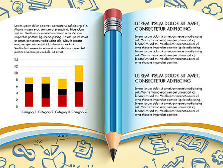 Data Driven Report with Book and Pencil, Slide 3, 03006, Data Driven Diagrams and Charts — PoweredTemplate.com