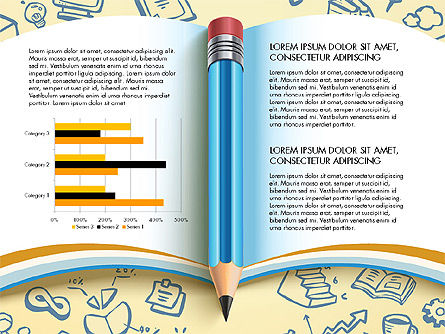Data Driven Report with Book and Pencil, Slide 6, 03006, Data Driven Diagrams and Charts — PoweredTemplate.com