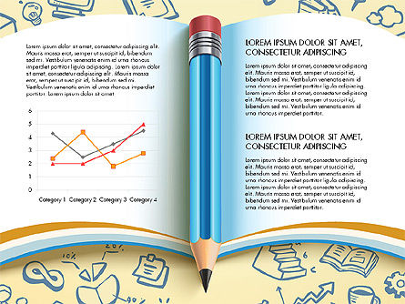 Data Driven Report with Book and Pencil, Slide 7, 03006, Data Driven Diagrams and Charts — PoweredTemplate.com