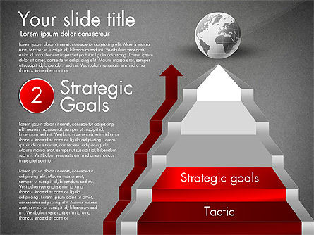 Strategic Stairs, Slide 12, 03009, Stage Diagrams — PoweredTemplate.com