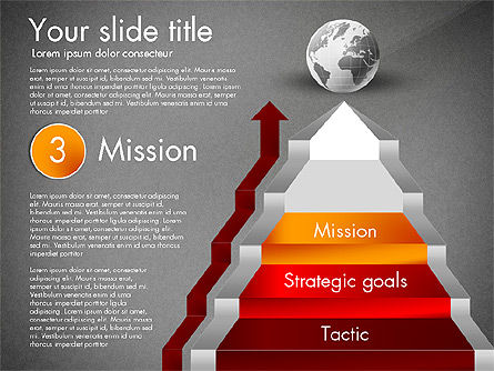 Strategic Stairs, Slide 13, 03009, Stage Diagrams — PoweredTemplate.com