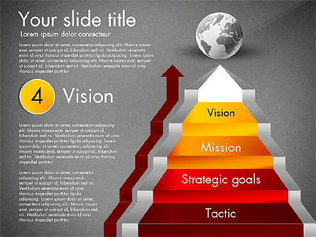 Strategic Stairs, Slide 14, 03009, Stage Diagrams — PoweredTemplate.com