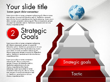 Strategic Stairs, Slide 4, 03009, Stage Diagrams — PoweredTemplate.com