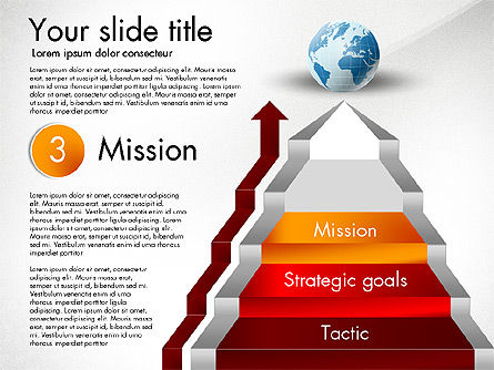 Strategic Stairs, Slide 5, 03009, Stage Diagrams — PoweredTemplate.com