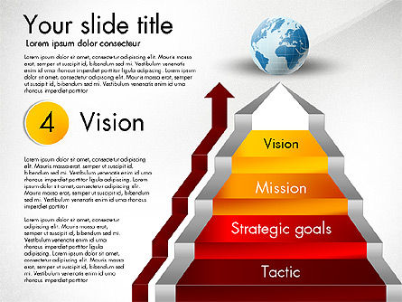 Strategic Stairs, Slide 6, 03009, Stage Diagrams — PoweredTemplate.com