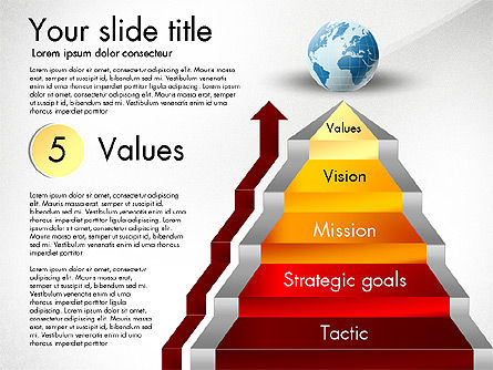 Strategic Stairs, Slide 7, 03009, Stage Diagrams — PoweredTemplate.com